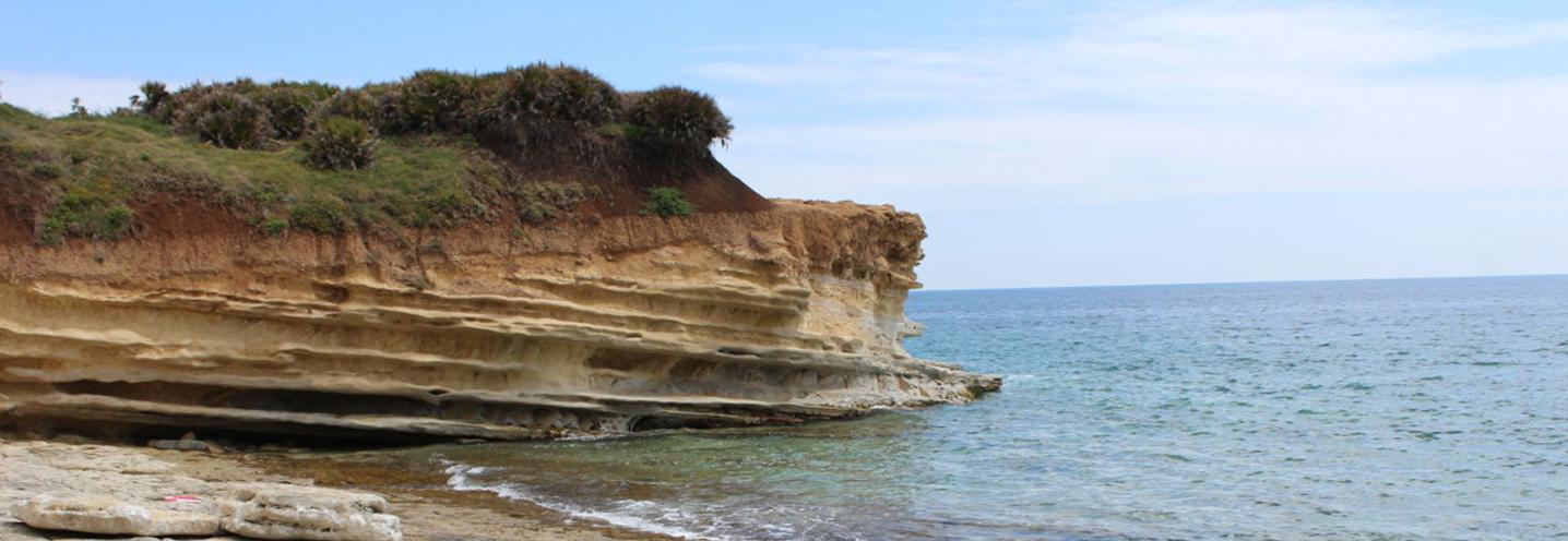 AVOLA – Caponegro – Il promontorio caratterizzato da spiccata stratificazione