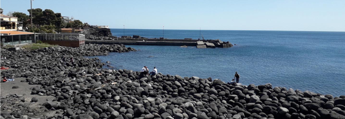 CATANIA – San Giovanni Li Cuti – Pocket beach vista da sud