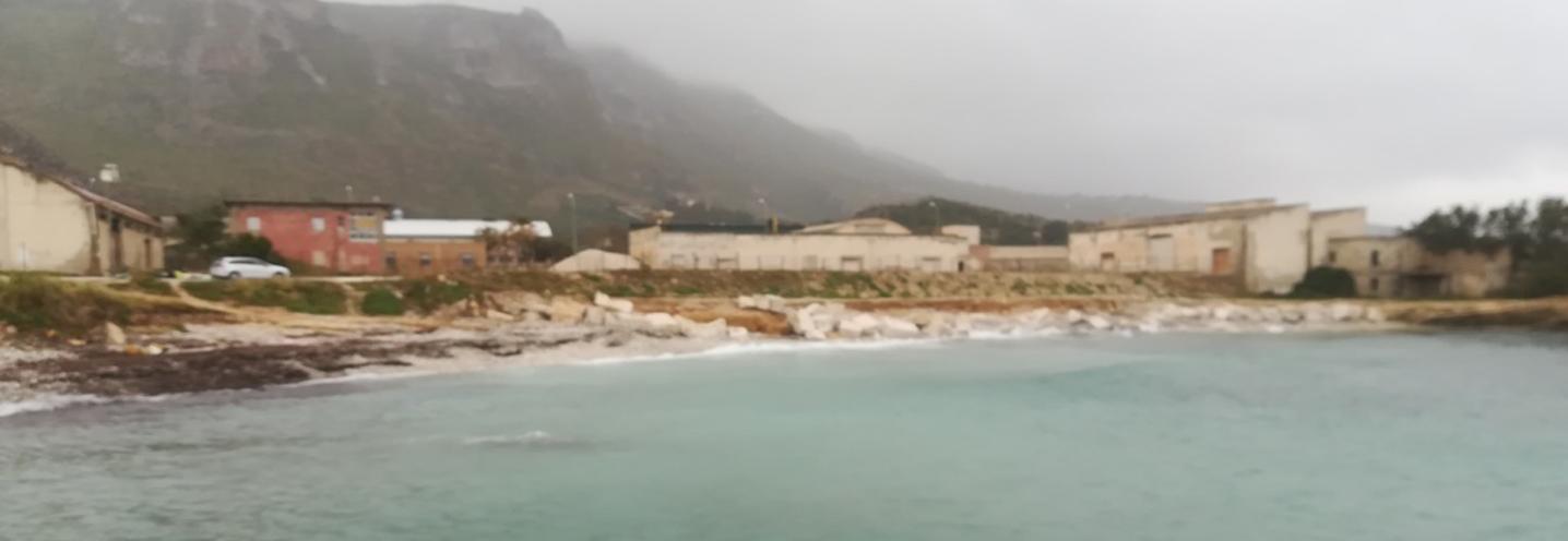 ERICE – Pizzolungo ovest – La pocket beach vista dal promontorio nord-orientale