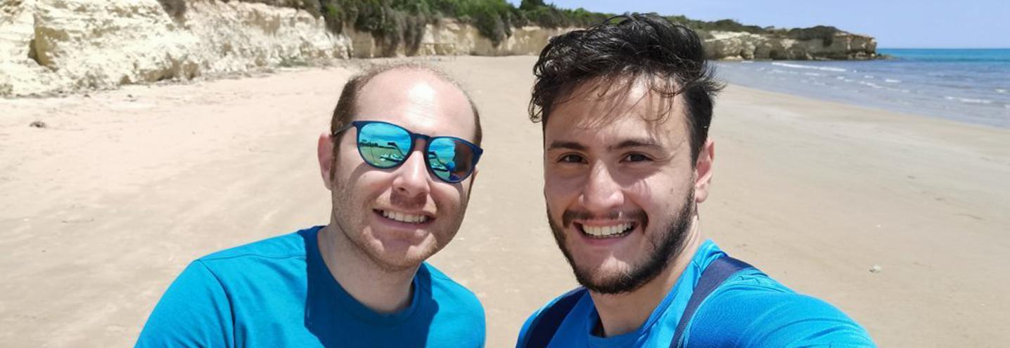 ISPICA – Porto Ulisse ovest – Antonio e Marco si prendono una pausa dal rilievo