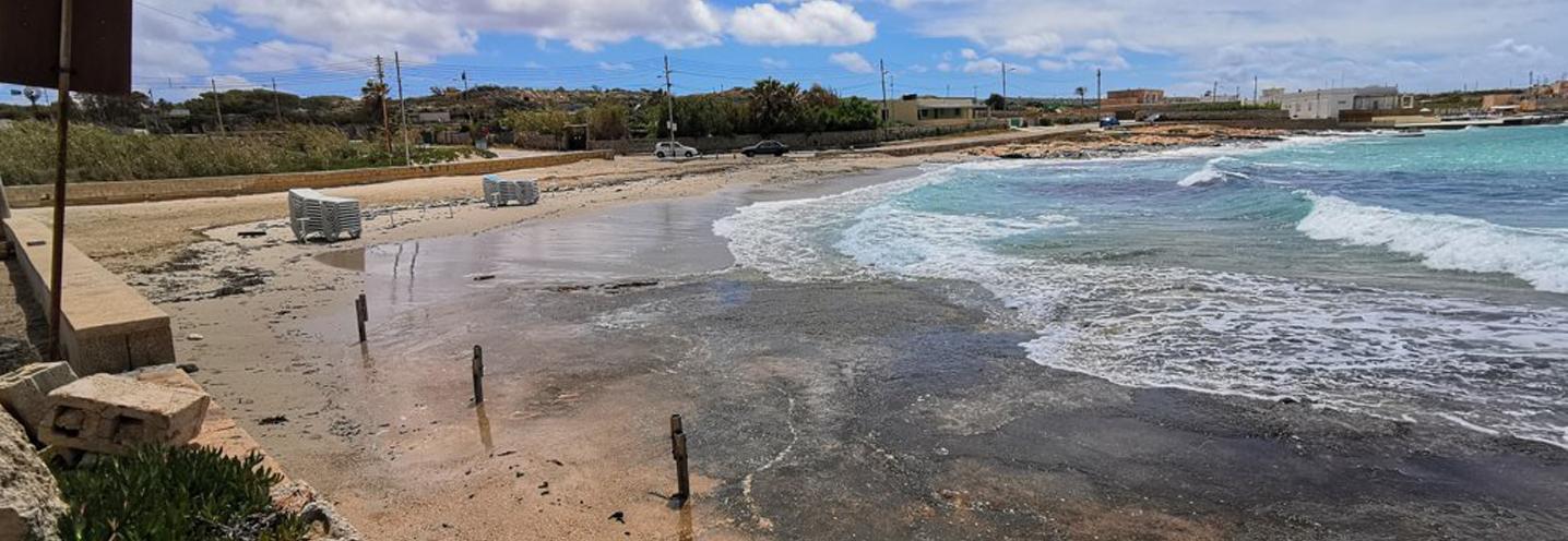 MELLIEHA – ARMIER BAY -LITTLE ARMIER BEACH – Frangimento delle onde