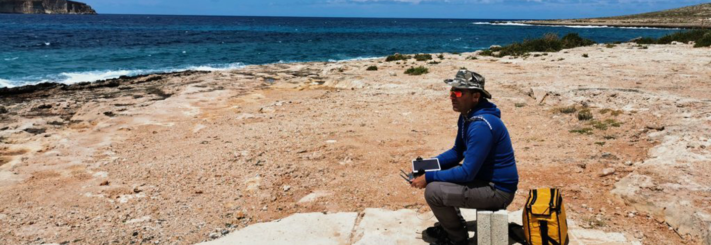 MELLIEHA – ARMIER BAY -LITTLE ARMIER BEACH – Giovanni Barreca, il nostro pilota all'opera