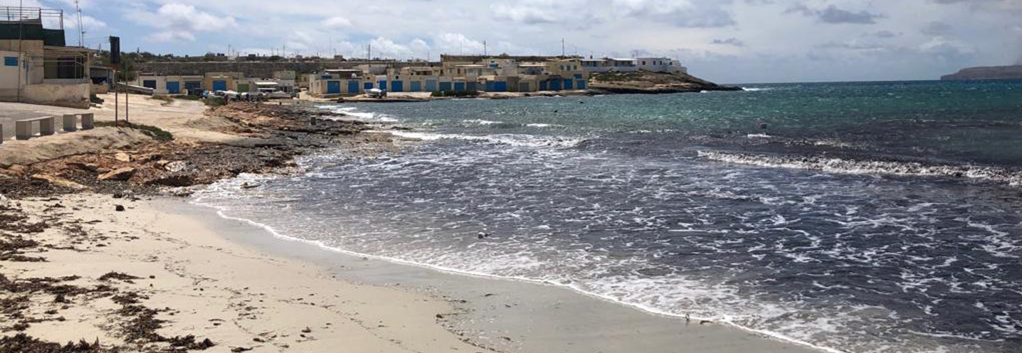 MELLIEHA – ARMIER BAY – WHITE TOWER BEACH – Panoramica della spiaggia vista da NO