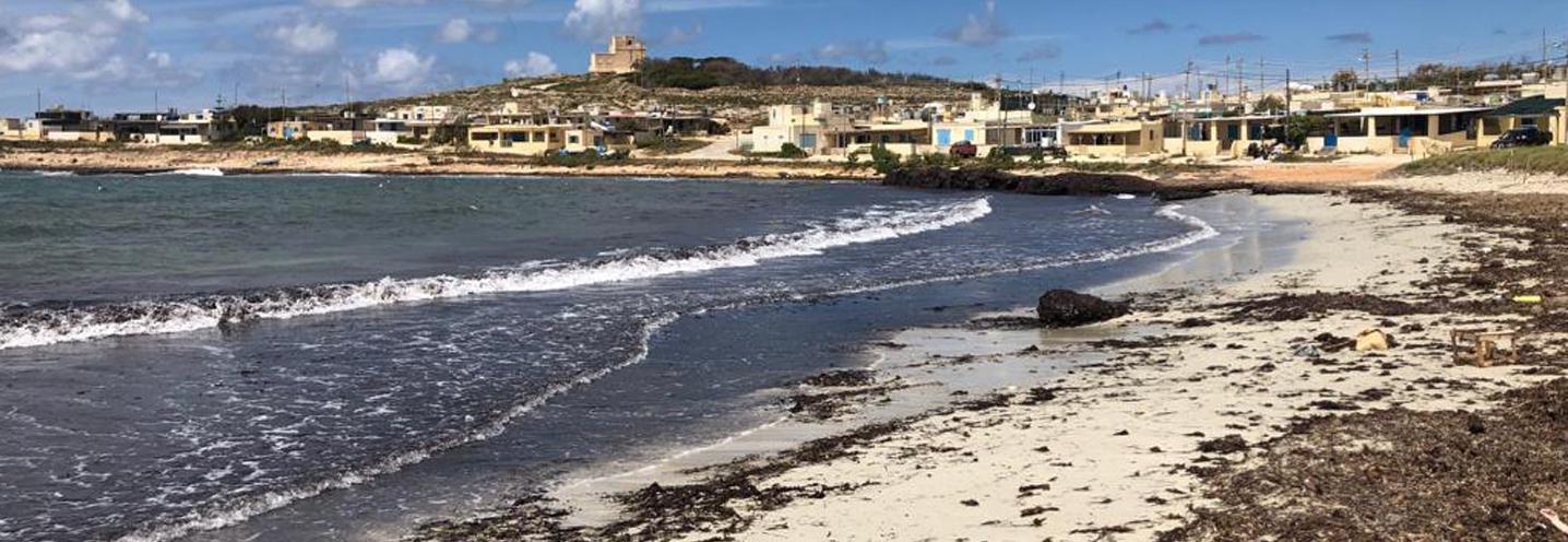 MELLIEHA – ARMIER BAY – WHITE TOWER BEACH – Panoramica della spiaggia vista da SE