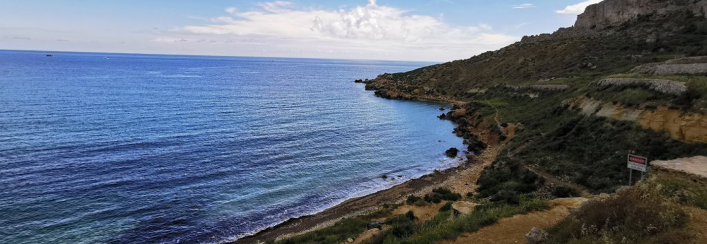 MELLIEHA – IMGIEBAH BAY – Spiaggia e promontorio orientale