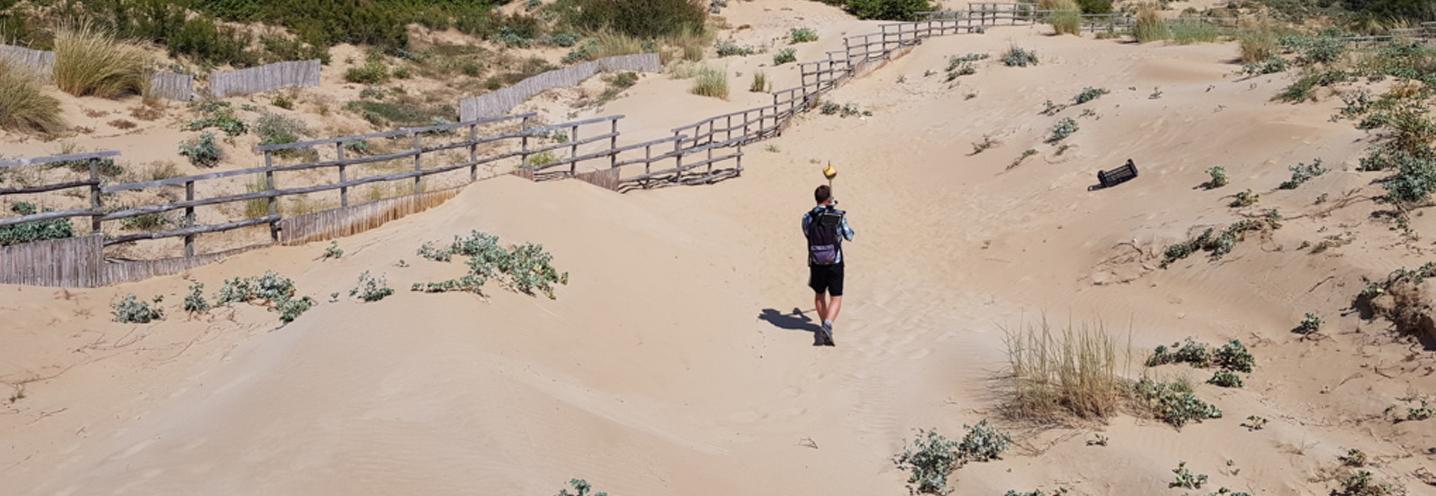 Modica – Marina di Modica – Rilievo dei GCP sulle dune