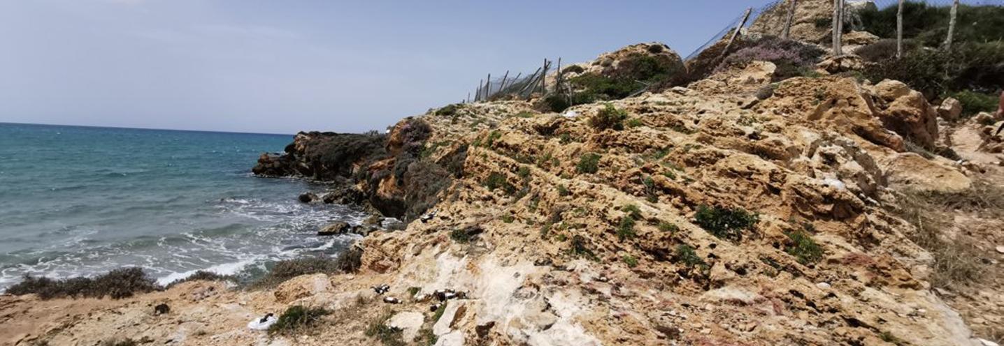 RAGUSA – PUNTA BRACCETTO – Affioramento di rocce sedimentarie