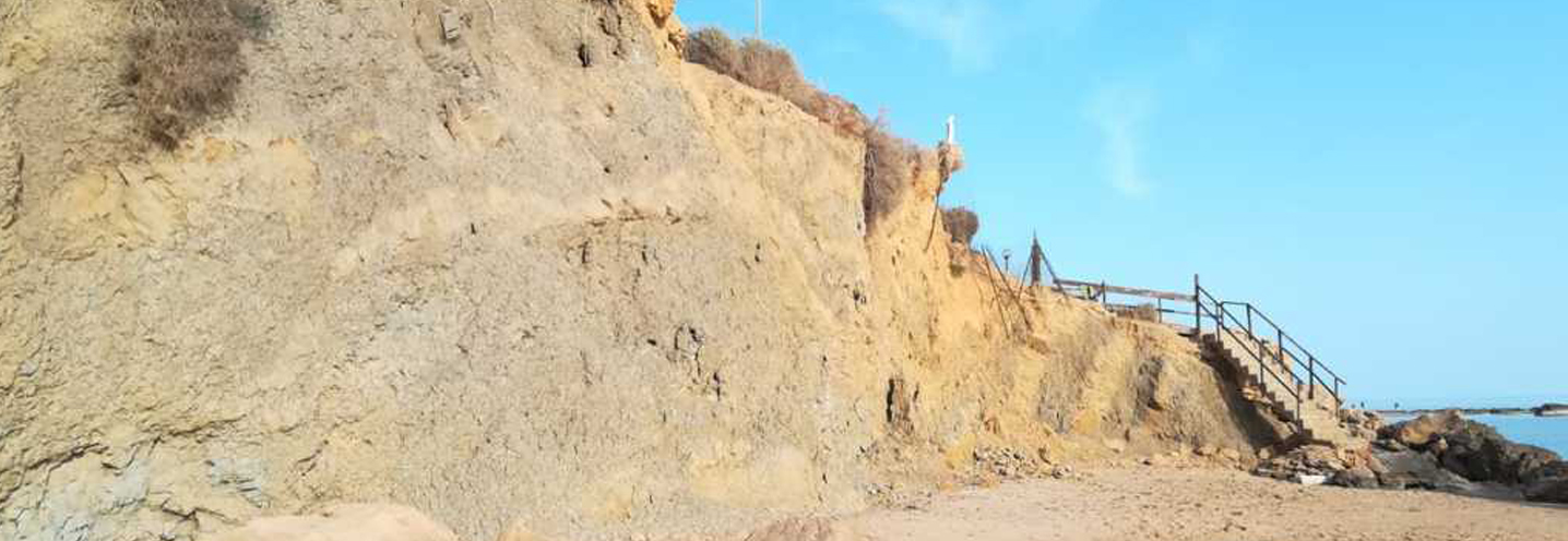 REALMOTE – PERGOLE CENTRO – Falesia costituita da rocce sedimentarie