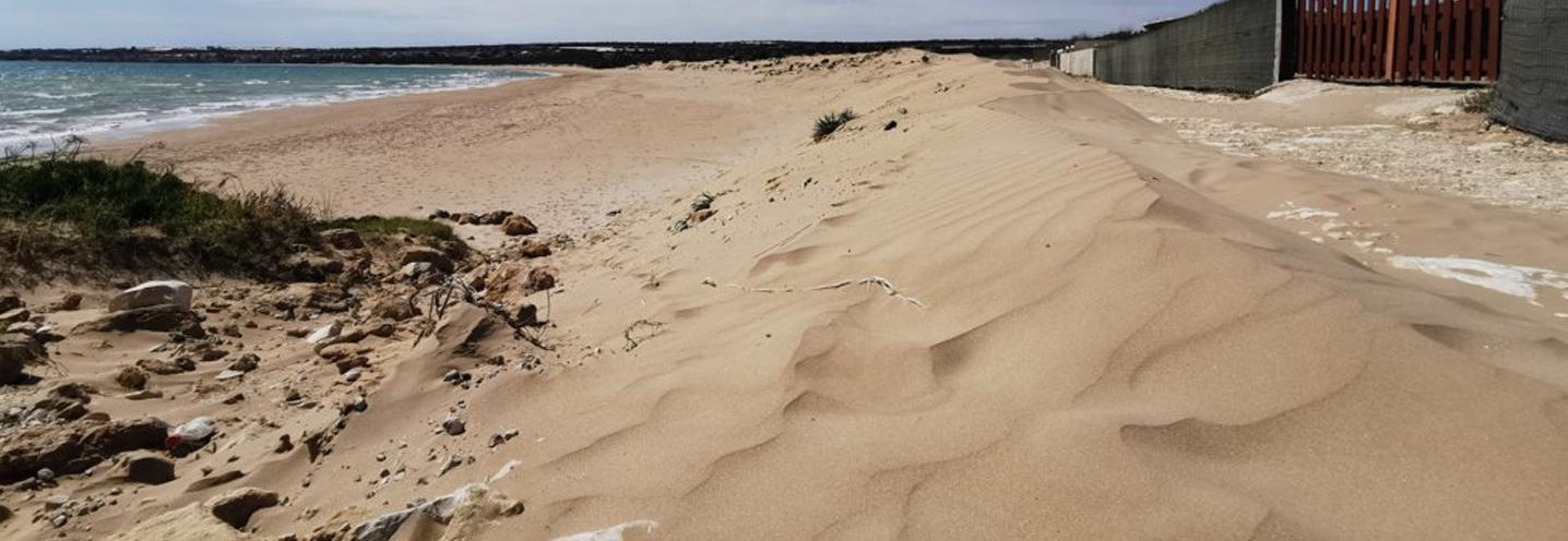 SCICLI – Sampieri Fornace Penna – Pocket beach, primo piano delle dune